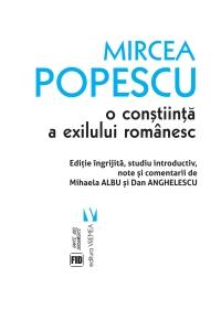 Mircea Popescu, o conștiinţă a exilului românesc
